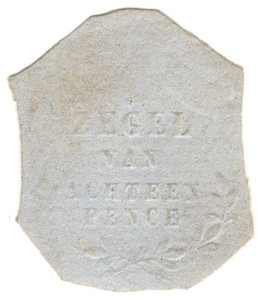 (04) 18d Embossed on White Paper (1856)