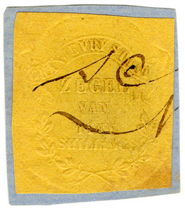 (36) 10/- Embossed on Yellow Paper (1871)