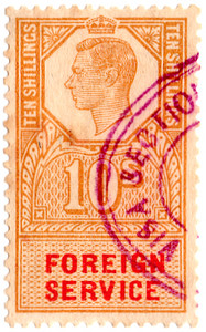 (10a) 10/- Gold & Red (1951)