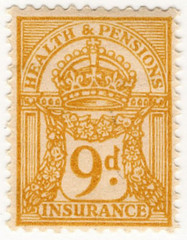 (48) 9d Yellow-Brown (1947)
