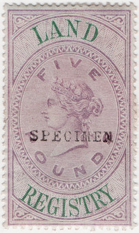 (43) £5 Lilac & Green (1881)