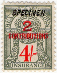 (152) 4/- Grey & Red (1945)