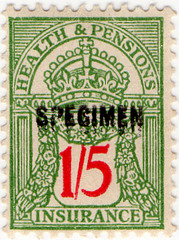 (71) 1/5d Green & Red (1940)