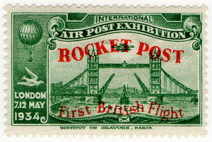 Rocket Post Overprint