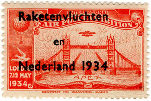 Dutch Rocket Post Overprint